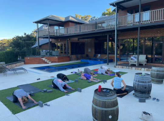 Yoga at 'Awakening' retreat